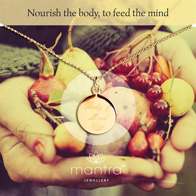 Buy Body & Mind Nourish Mantra Necklace in Gold