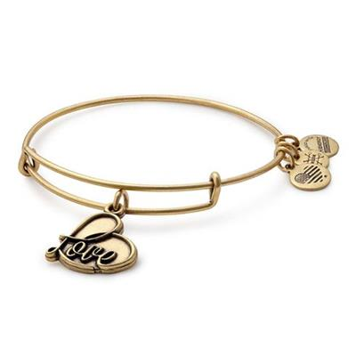 Buy Alex and Ani Love IV in Rafaelian Gold
