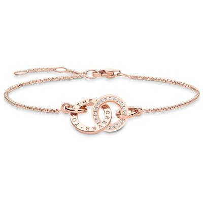 Buy Thomas Sabo Together Forever Bracelet Rose-Gold Plated