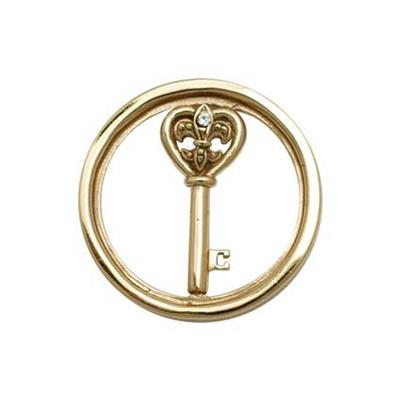 Buy Nikki Lissoni Yellow Gold Heart Key Coin 23mm