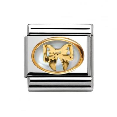 Buy Nomination Mother of Pearl Gold Bow  Charm