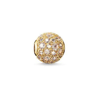 Buy Thomas Sabo Crushed Gold Pave Karma Bead
