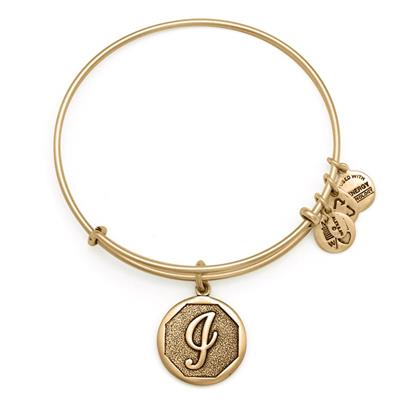 Buy Alex and Ani I Initial Bangle in Rafaelian Gold