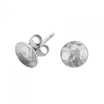 Buy Dower and Hall Sterling Silver Small Round Domed Studs