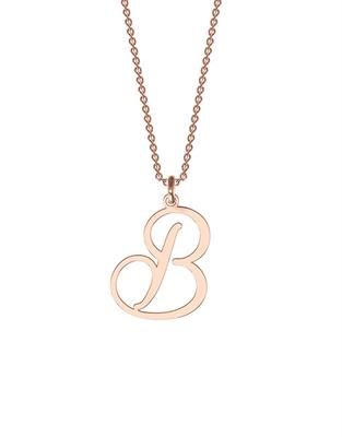 Buy me.mi Initial Pendant in Rose Gold