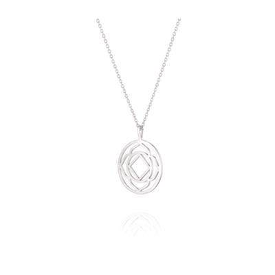 Buy Daisy Base Chakra Silver Short Necklace