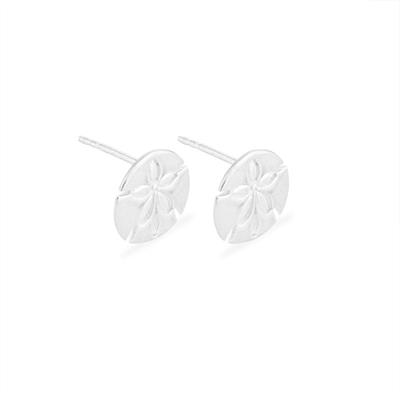 Buy Alex and Ani Sand Dollar Precious Studs in Silver