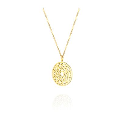 Buy Daisy Crown Chakra Gold Long Necklace