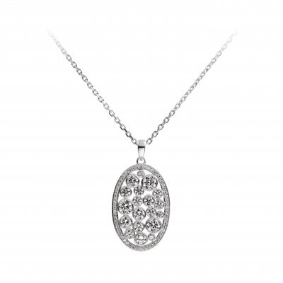 Buy Diamonfire Oval CZ Necklace