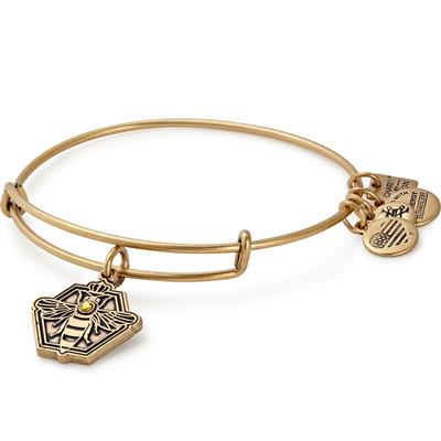 Buy Alex and Ani Queen Bee Bangle in Rafaelian Gold