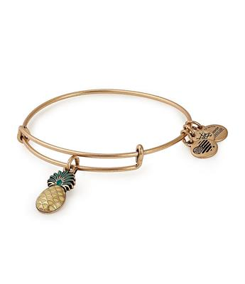 Buy Alex and Ani Pineapple Colour Infusion Bangle in Rafaelian Gold