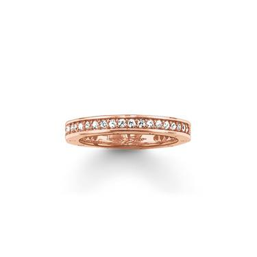 Buy Thomas Sabo Eternity Ring Rose Gold Plated Size 50