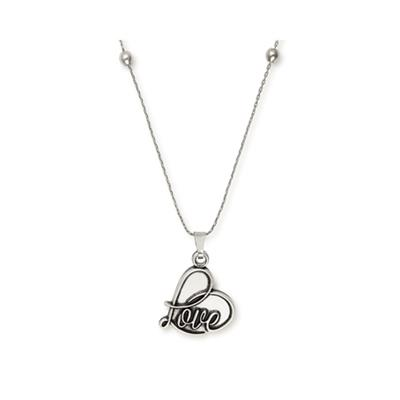 Buy Alex and Ani Love Expandable Necklace in Rafaelian Silver