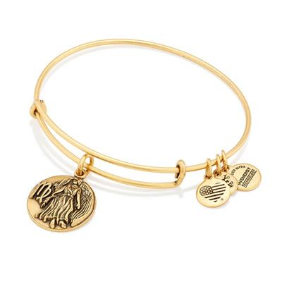 Buy Alex and Ani Virgo Disc Bangle in Rafaelian Gold Finish