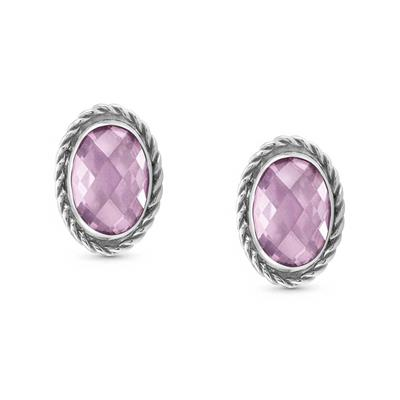Buy Nomination Silver Oval Pink CZ Studs