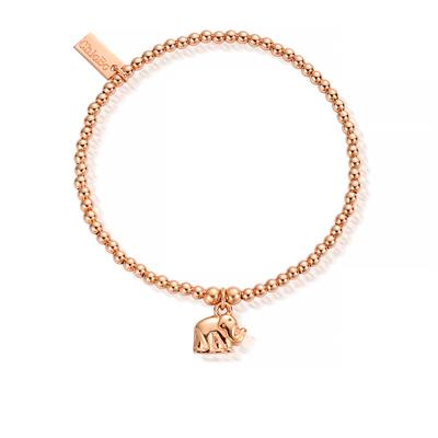 Buy ChloBo Rose Gold Cute Mini Elephant Bracelet
