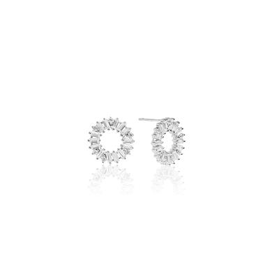 Buy Sif Jakobs Sterling Silver Antella Circolo Stud Earrings with White Zirconia