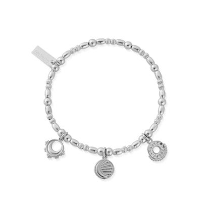 Buy ChloBo Silver Triple Skies Bracelet