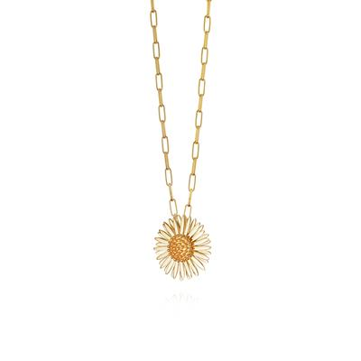 Buy Gold Michaelmas Daisy Vintage Necklace