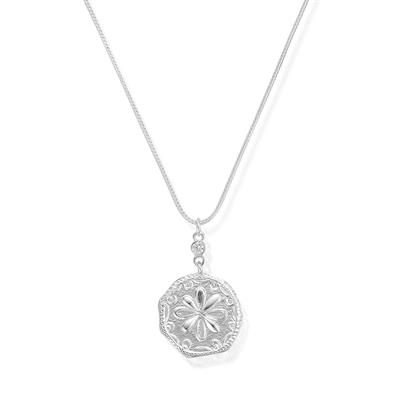 Buy ChloBo Ariella Silver Flower Coin Necklace