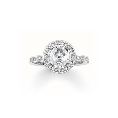 Buy Thomas Sabo Glam & Soul Round CZ Ring, Size 56