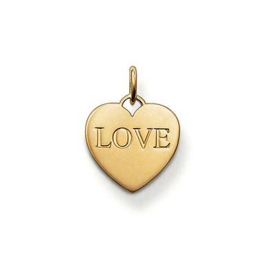 Buy Thomas Sabo Yellow Gold Vermeil LOVE Heart Charm