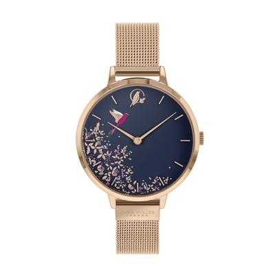 Buy Sara Miller Chelsea Hummingbird Watch, Rose Gold Mesh