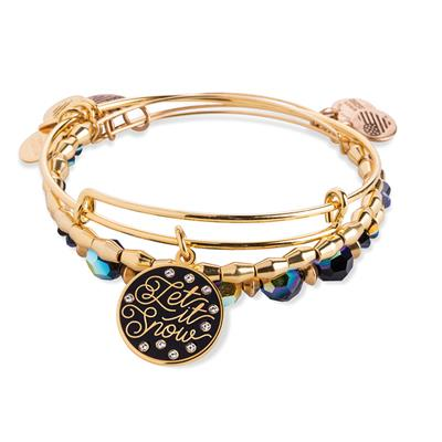 Buy Alex and Ani Let it Snow Set of 3 in Shiny Gold