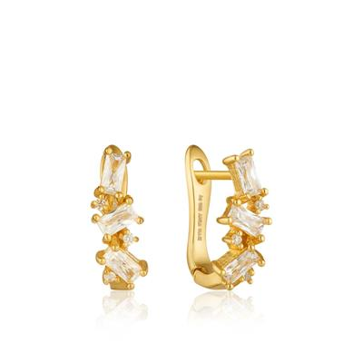 Buy Ania Haie Gold Cluster Huggie Earrings