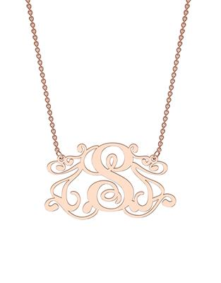 Buy me.mi Monogram Necklace in Rose Gold