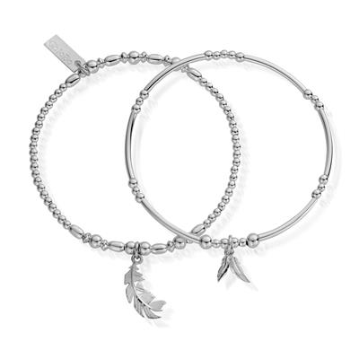 Buy ChloBo Silver Strength Courage Set of 2 Bracelets