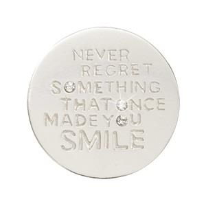 Buy Nikki Lissoni Silver Never Regret Small Coin 23mm