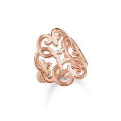 Buy Thomas Sabo Glam and Soul Rose Gold Arabesque Ring, Size 56