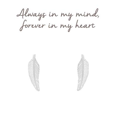 Buy Mantra Feather Stud Earrings in Sterling Silver