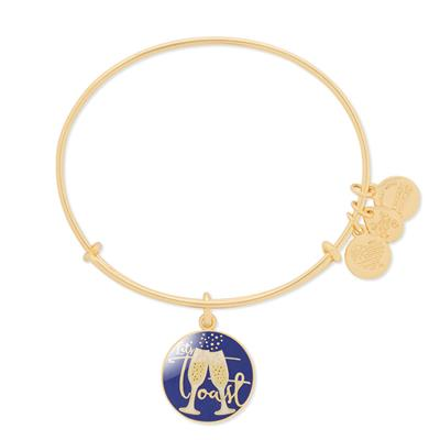 Buy Alex and Ani Let's Toast Bangle in Shiny Gold