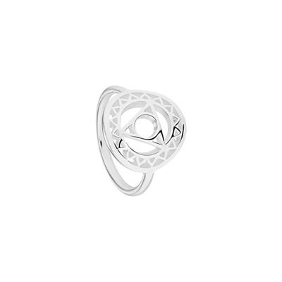 Buy Daisy Throat Chakra Silver Ring Large