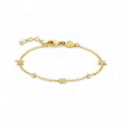 Buy Nomination Gold CZ Triple Star Bracelet