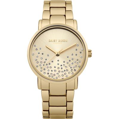 Buy Daisy Dixon Aubrie Gold Mesh Sunray Dial Watch