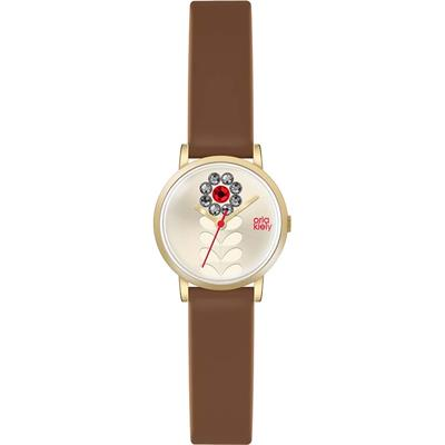 Buy Orla Kiely Valentina Brown Leather Strap Watch
