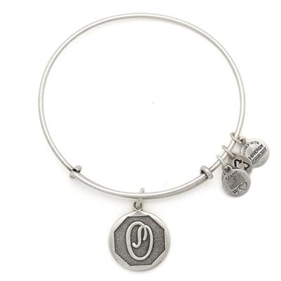 Buy Alex and Ani O Initial Bangle in Rafaelian Silver
