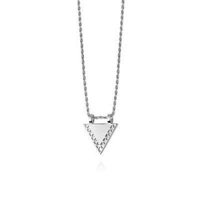 Buy Daisy Artisan Triangle Necklace, Sterling Silver