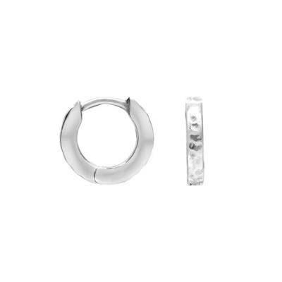 Buy Dower and Hall Sterling Silver Small Hammered Story Huggies