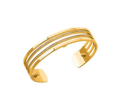 Buy Les Georgettes Slim Gold CZ Parallel Cuff