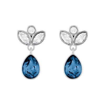 Buy Swarovski Blue Drop Earrings