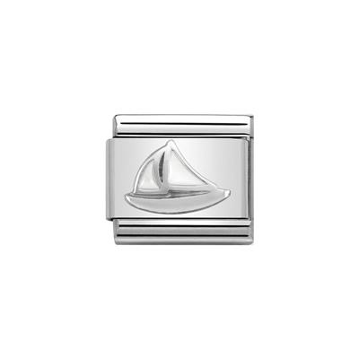 Buy Nomination Silver and Enamel Sailboat Charm