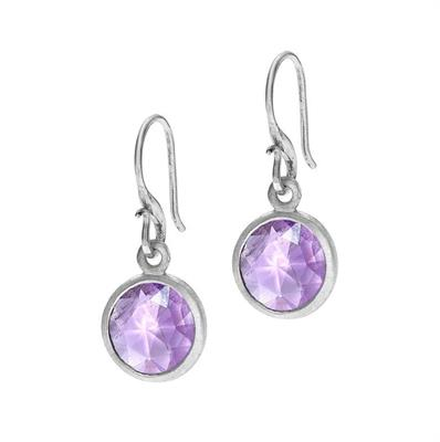 Buy Dower and Hall Silver Round Amethyst Jewel Drops