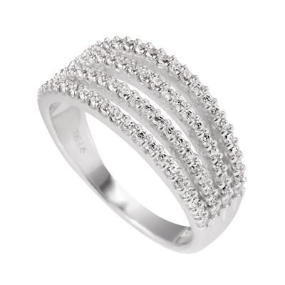 Buy Diamonfire 4 Row Band Ring Size N