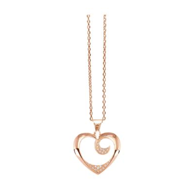Buy Tresor Paris Allure Rose Gold Heart Necklace
