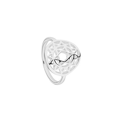 Buy Daisy Heart Chakra Silver Ring Small