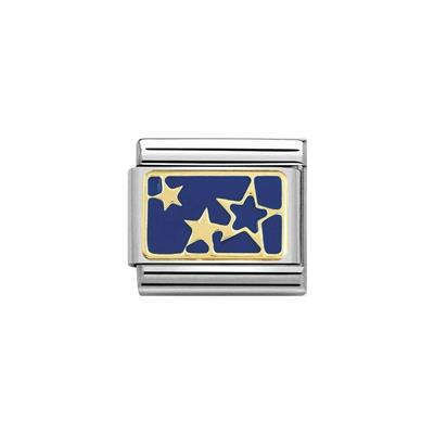 Buy Nomination Gold Blue Stars Plate